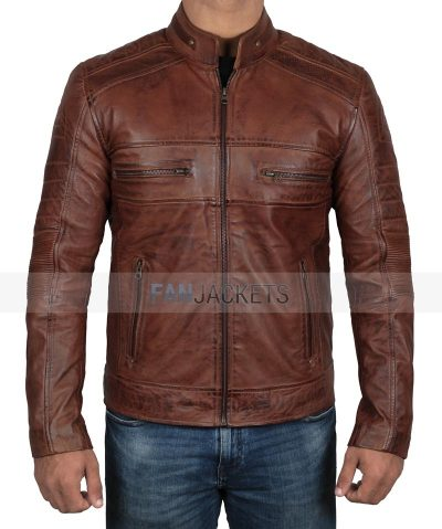 Austin Brown Leather Jacket