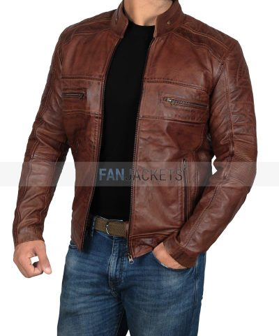 Austin leather jacket for mens