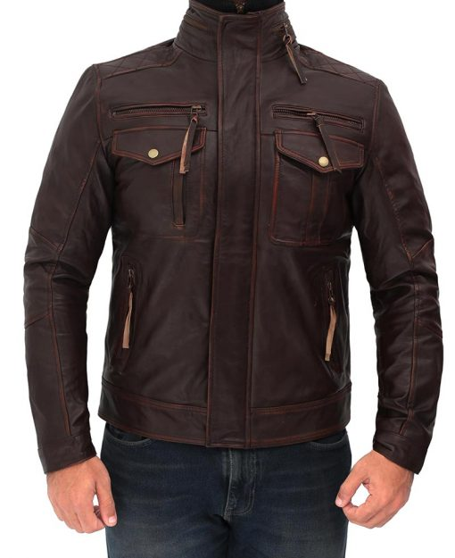 Mens Real Lambskin Leather Jacket