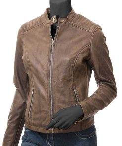 Recently viewed products. Quick View. Camrose Womens Brown Real Leather  Biker Jacket 67a9ea8bc