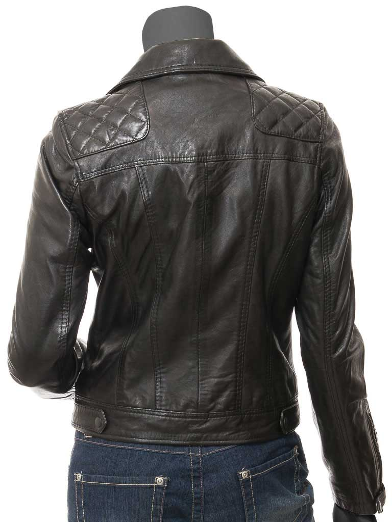 ddc0738a1 Kimberley Womens Black Quilted Leather Jacket