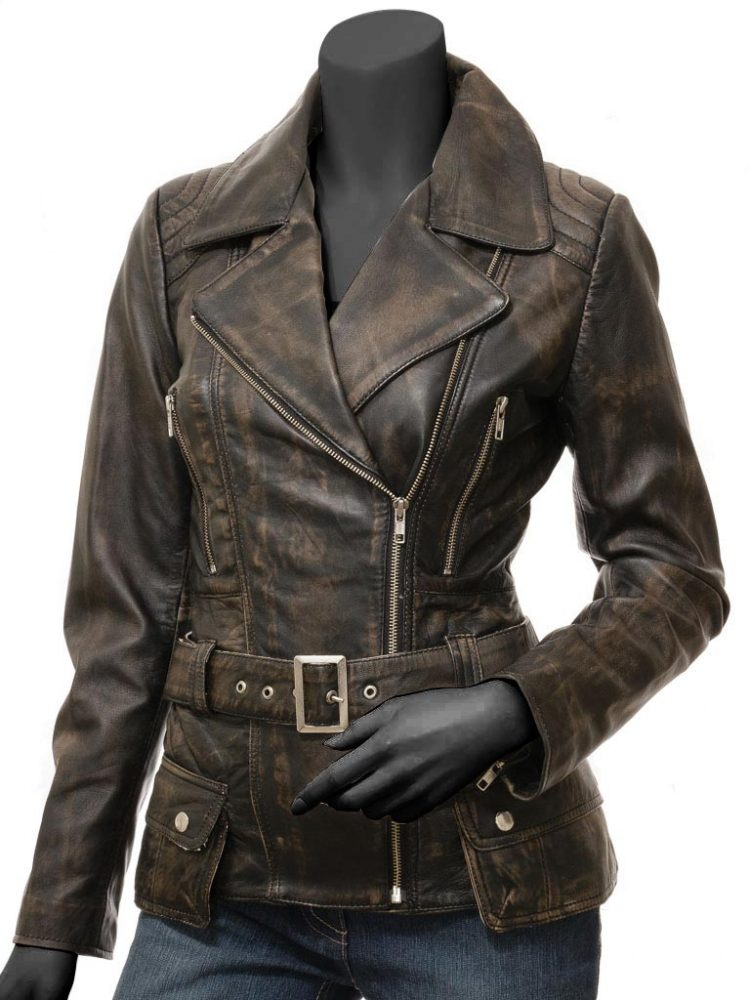 Rack leather women jackets brown vintage pictures for down