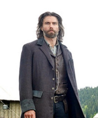 Hell On Wheels Cullen Bohannon Black Cotton Coat