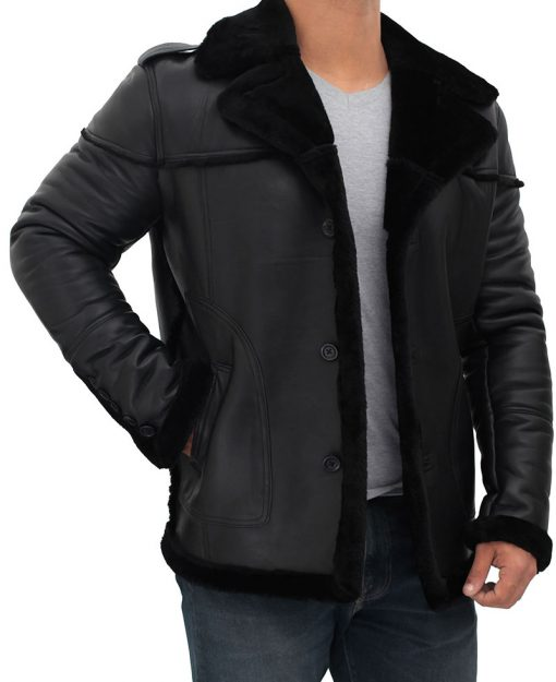 Russo shearling leather coat