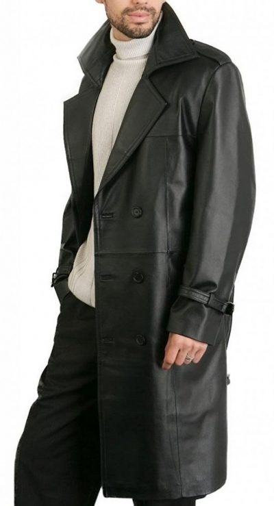 The Punisher Leather Trench Coat