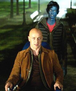 Dark Phoenix James McAvoy Brown Suede Leather Jacket