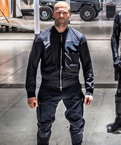 Jason Statham Black Cotton Bomber Jacket