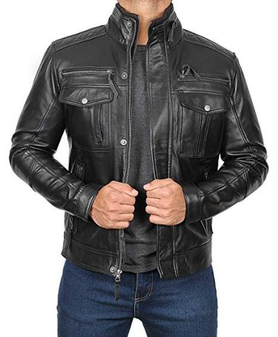 Black Leather Jacket Mens