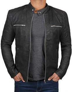 Black Retro Leather Jacket