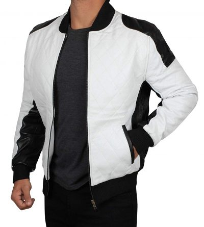Black and white bomber jacket men