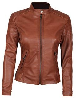 Brown Leather Jacket Women