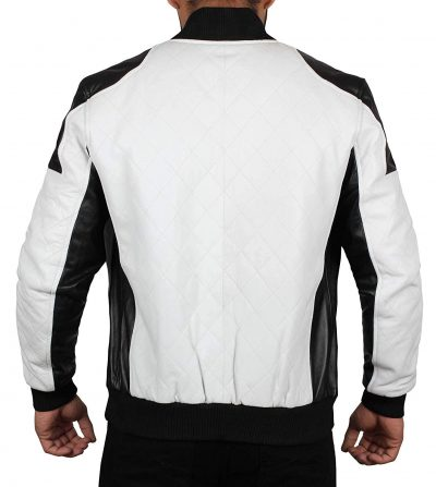 Genuine leather bomber jacket men winter