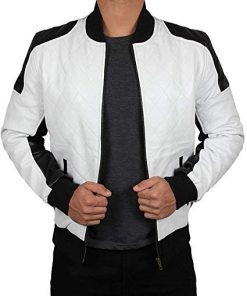 Leather Bomber Jacket Men