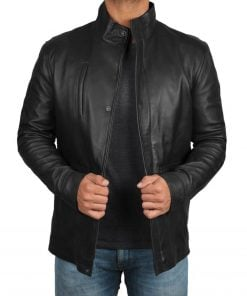 Mens Leather Car Coat