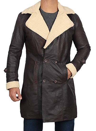Shearling Brown Leather Coat