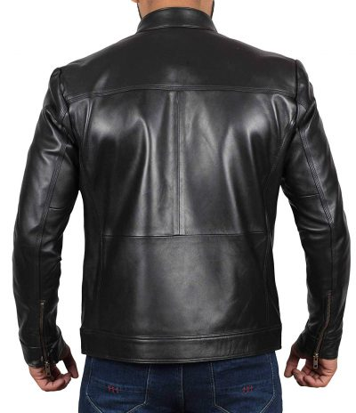 cafe racer jacket men real leather