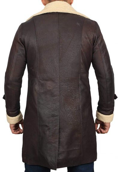 men leather coat dark brown Superfly