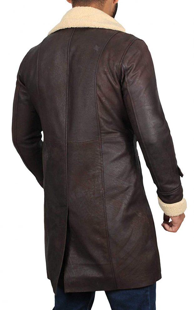 mens leather coat supr fly beige winter coat