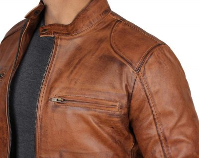 mens leather jacket style
