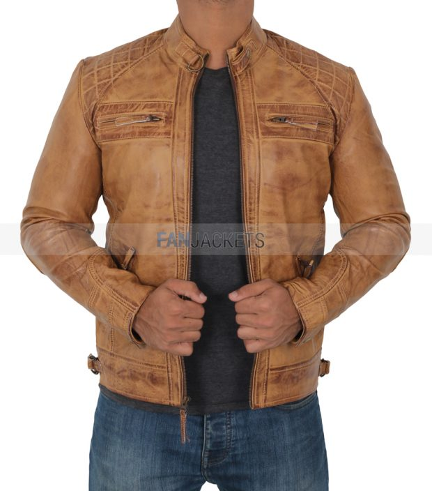 real leather mens leather jacket