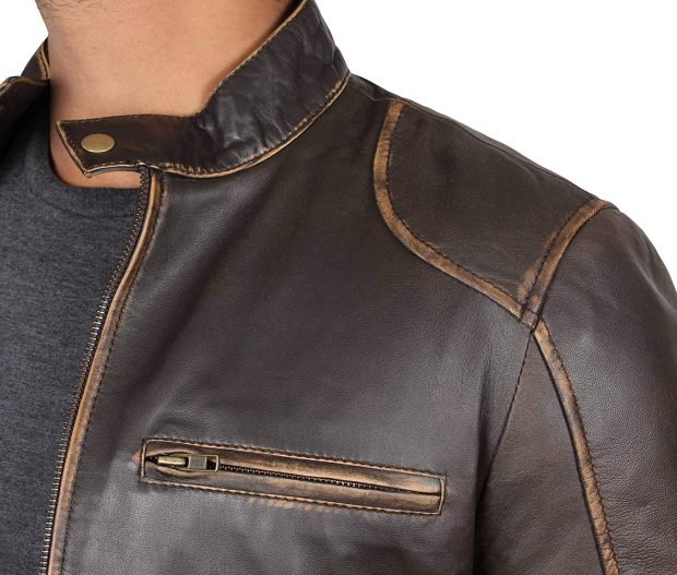 stylish mens leather jacket