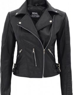 Bari Motorcycle Leather jacket women