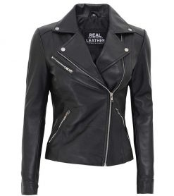Black asymmetrical jacket women