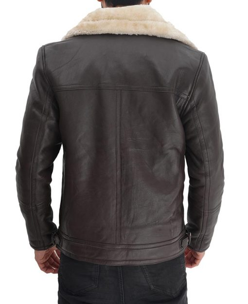 High Quality Shearling Leather Jacket Men