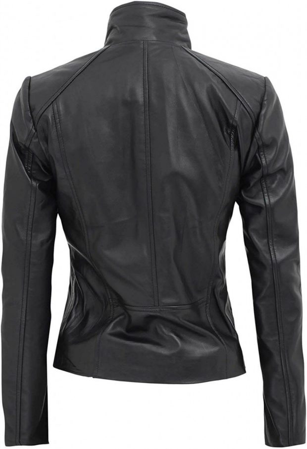 Lambskin Leather jacket women