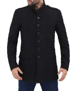 Mens 3 Quarter Length black Coat