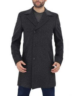 Mens Long Grey Coat