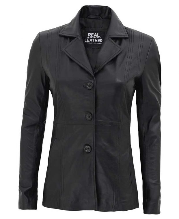 Womens black coat blazer