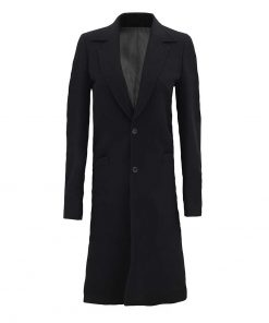 Womens black wool coat