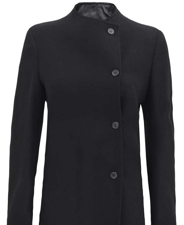 black coat for women wool