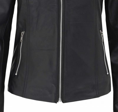 bottom zipper jacket womens