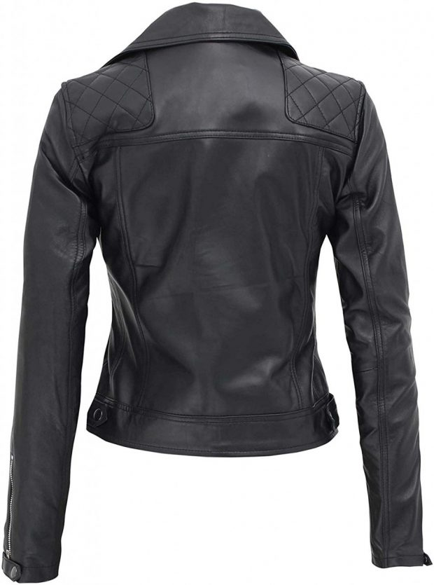 womens biker jacket real leather