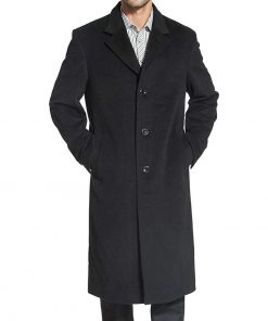 Knee_Length_Wool_Coat_Mens single breasted