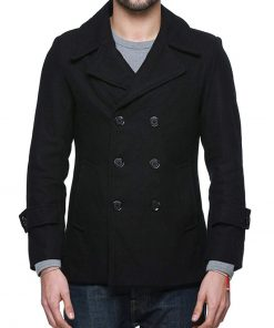 double breasted wool coat mens