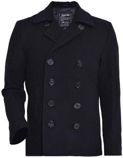 double breasted wool coat navy blue