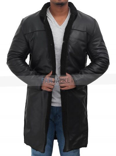 lambskin leather shearling coat