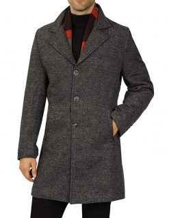 men's wool coat Single Breasted