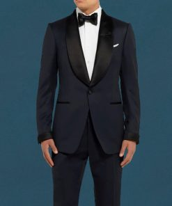 James Bond No Time To Die Midnight blue tuxedo suit