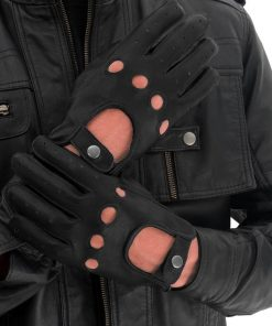 Classic Black Leather Gloves
