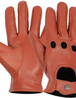 Driving leather gloves tan brown
