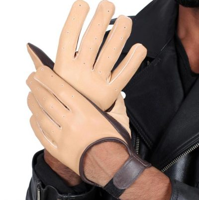 Han Solo Leather gloves beige mens
