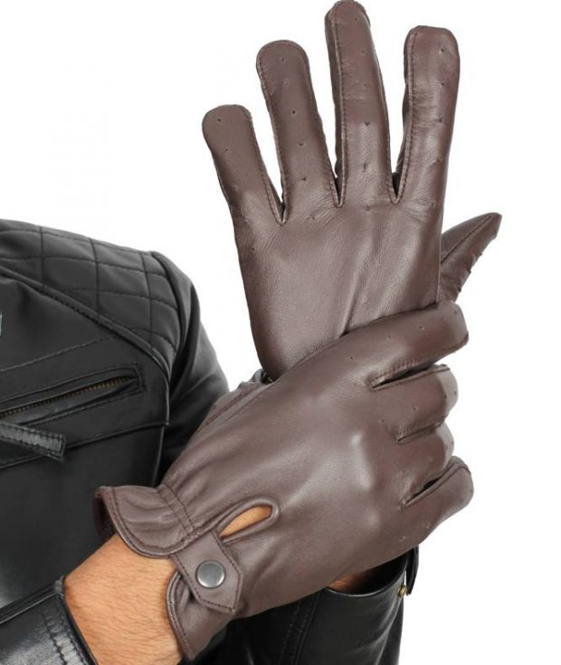 Leather Driving gloves brown
