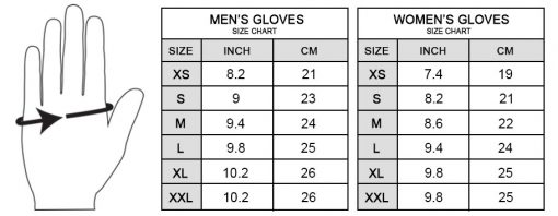 Men-and-Women-Gloves-size chart