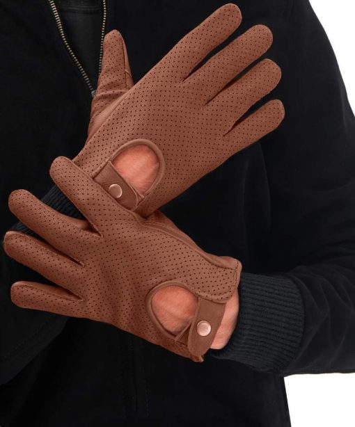 Tan Driving Leather Gloves