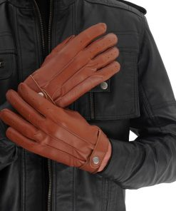 Tan Leather Driving Gloves