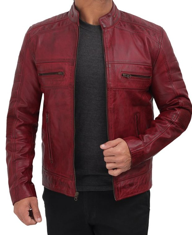 biker leather jacket mens